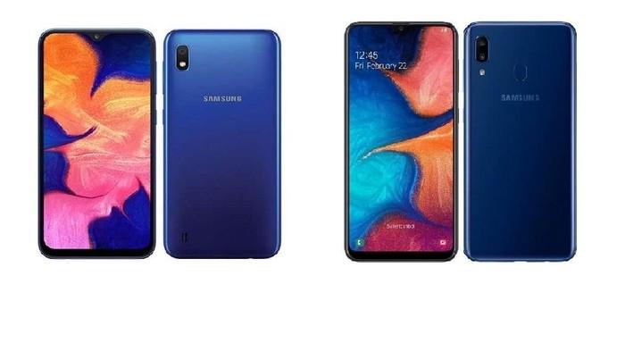 Galaxy A10 (kiri) dan Galaxy A20 (kanan). Foto: Samsung