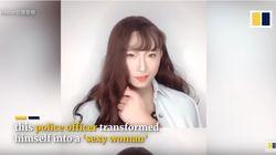 Viral Polisi Dandan Jadi Wanita Cantik, Tujuannya Ternyata Mulia