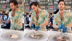 Ganteng! Pemilik Kedai Es Krim Roll Ini Dipuja Banyak Wanita
