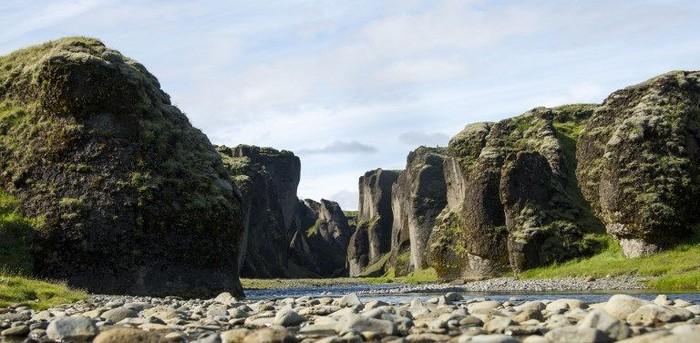 Fjadrargljufur Canyon jadi populer setelah jadi lokasi syuting video klip Justin Bieber. Foto: Halldor KOLBEINS / AFP