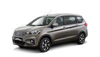 Ilustrasi Ertiga berlogo Toyota.