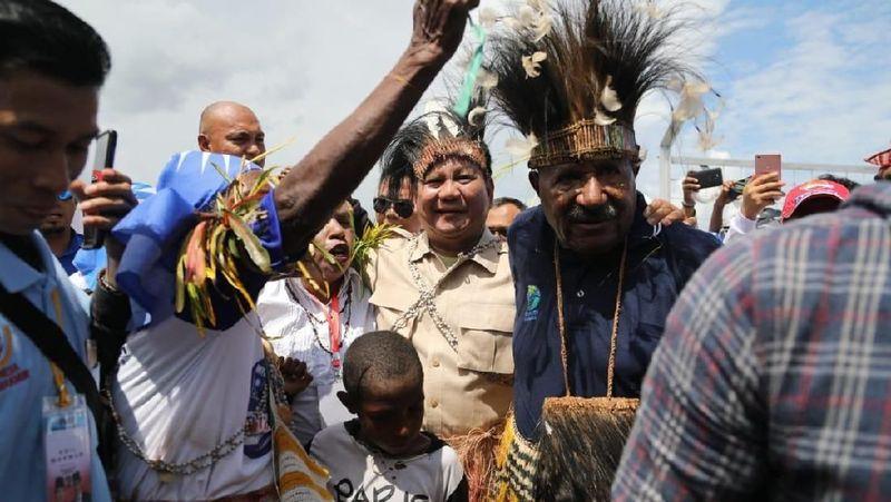 Capres Prabowo Subianto saat kampanye di Merauke, Papua. Merauke adalah tempat di ujung timur Indonesia dengan berbagai objek wisata yang eksotis (Dok. BPN Prabowo-Sandiaga)
