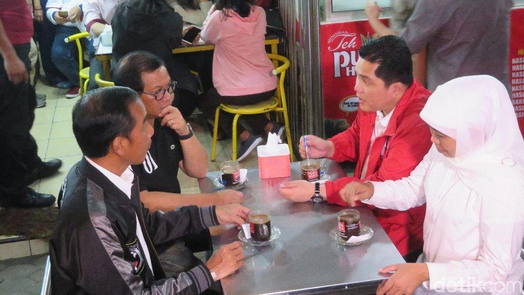 Jokowi, Luhut hingga Khofifah Ngopi di Pujasera Depan Stasiun Malang