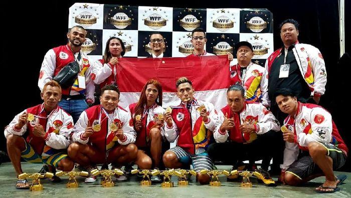 Indonesia juara umum Kejuaraan Binaraga di Singapura (dok.Perbafi)