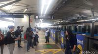 Situasi peron (Shinta/detikcom)