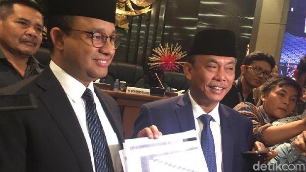 Anies dan Pras sepakati tarif MRT Jakarta.