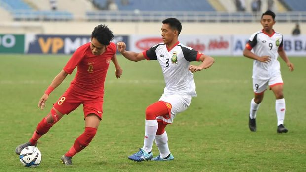 Timnas Indonesia U-23 menang tipis atas Brunei Darussalam.