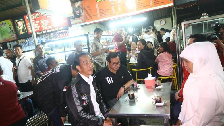 Jokowi di Sentra Kuliner Sriwijaya, Malang (Istimewa)