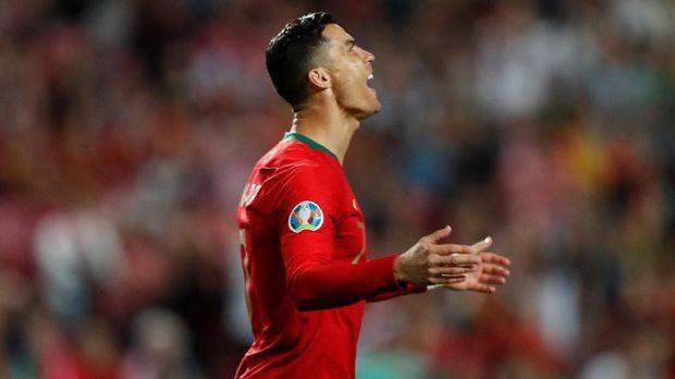 Cristiano Ronaldo gagal membawa timnas Portugal menang di dua laga Kualifikasi Piala Eropa 2020.