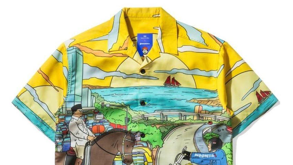 Laris Manis! Artwork Jokowi dan Prabowo di Kemeja Garapan Hari Prast