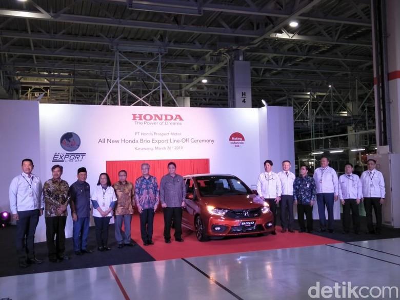 Seremoni ekspor Honda Brio. Foto: Ruly Kurniawan