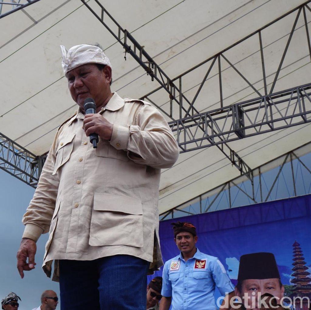 Prabowo: Bangsa Indonesia masih Dilanda Perekonomian yang Lemah