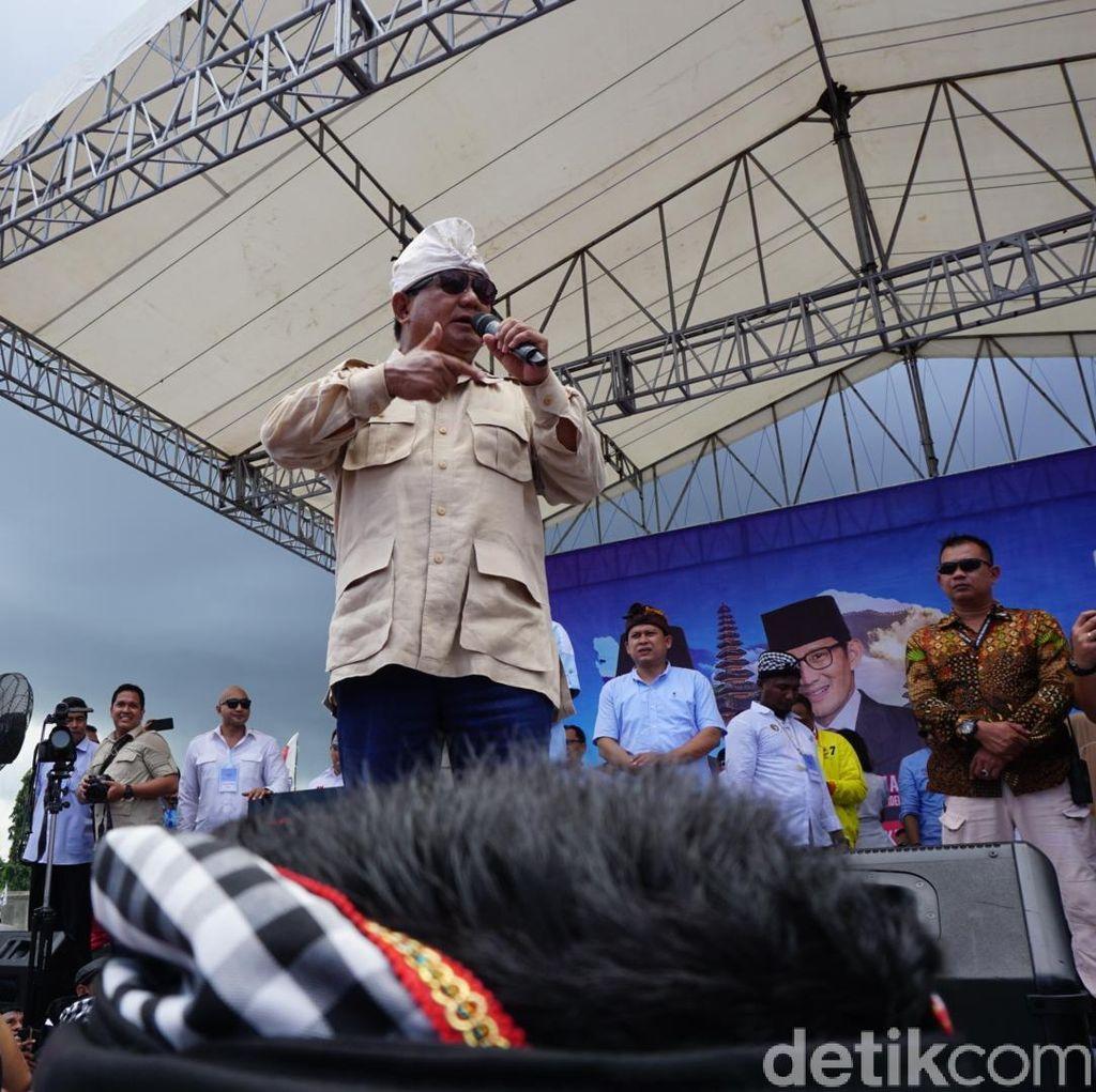 Prabowo: Kalau Difitnah, Kita Joget Saja!