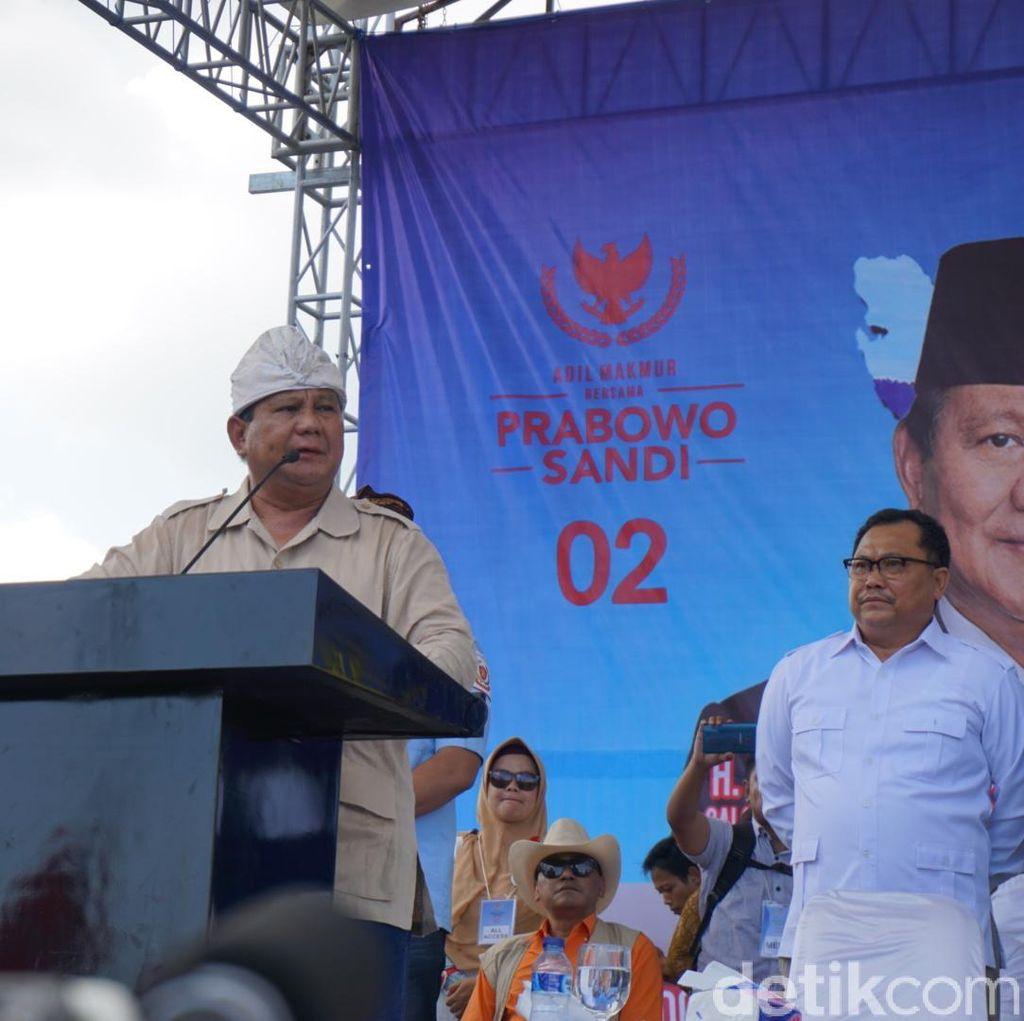Prabowo: Banyak dari Partai Lain Kepalanya di Sana, Rakyatnya Ke Sini