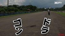 Orang Jepang Kaget Ada Biawak Nyebrang di Sirkuit Sentul