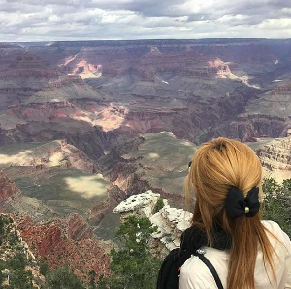 Awano juga menikmati view di Grand Canyon, Arizona, AS. (kisa_awn/Instagram)