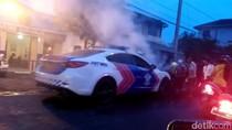 Mobil Patwal Polres Batu Terbakar di Jalur Surabaya-Malang