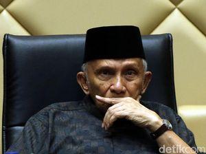 Amien Rais Kritik Jokowi Tak Bicara UUD 45 di Pidato Visi Indonesia