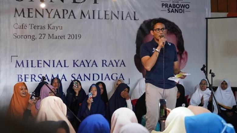 Sandi Ingin Milenial Indonesia Jadi POP, Apa Maksudnya?