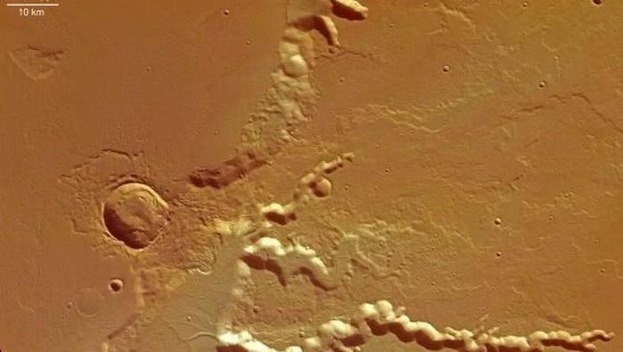Ilustrasi planet Mars. (Foto: NASA)