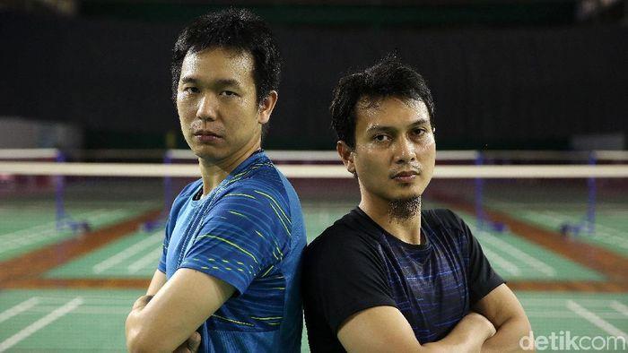 Hendra Setiawan/Mohammad Ahsan tak jemawa menuju Indonesia Open 2019. (Agung Pambudhy/detikSport)