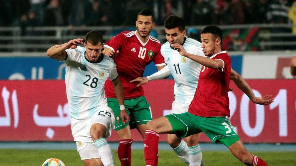 Bukan Messi, Angel Correa Pahlawan Argentina Atasi Maroko