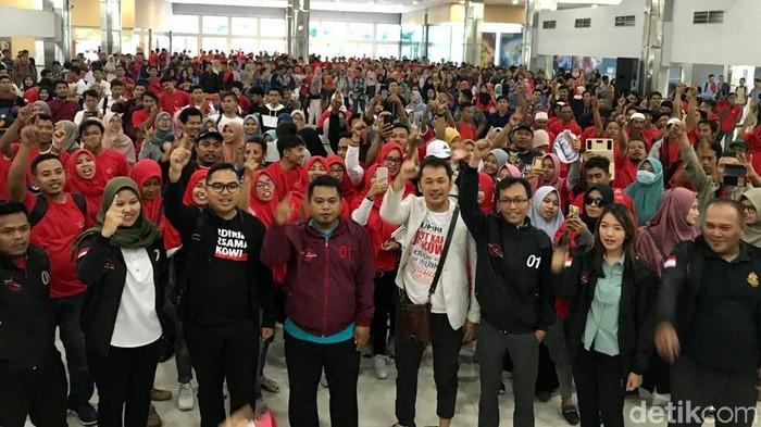 Hanung saat konsolidasi dukungan kepada Jokowi (Foto: Hilda Meilisa Rinanda)