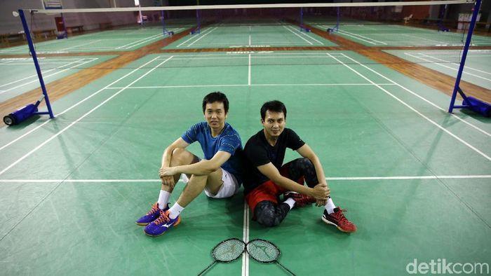Hendra Setiawan/Mohammad Ahsan mendapatkan apresiasi dari pelatih.  (Agung Pambudhy/detikSport)