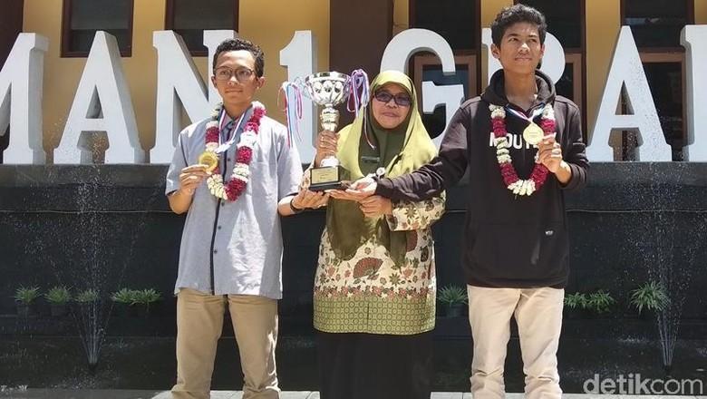 Hebat! 2 Siswa SMAN 1 Grabag Sabet Emas di Hongkong Berkat Nasi Beton