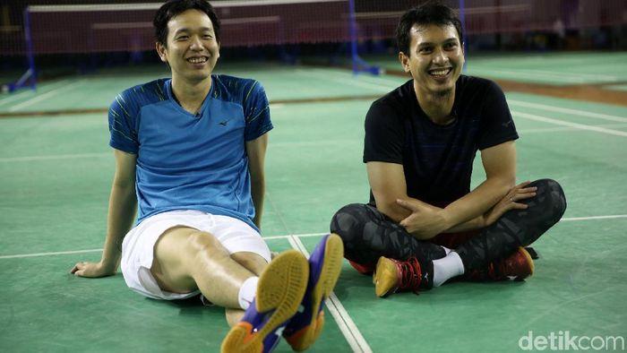 Hendra Setiawan/Mohammad Ahsan menyimpan harapan kepada capres dan cawapres terpilih. (Agung Pambudhy/detikSport)