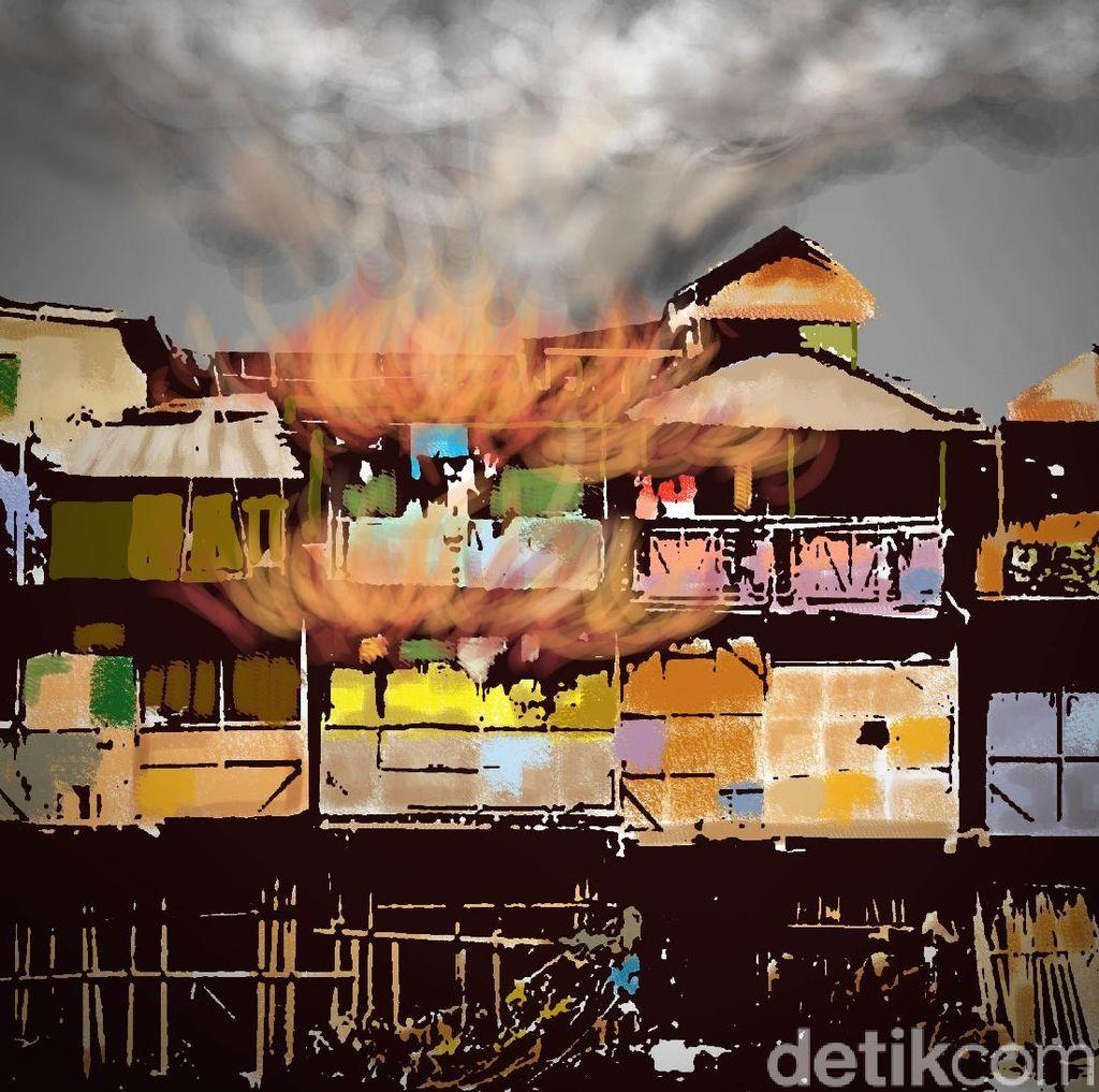 Padamkan Kebakaran Rumah di Jatinegara, Petugas Terkendala Akses Jalan