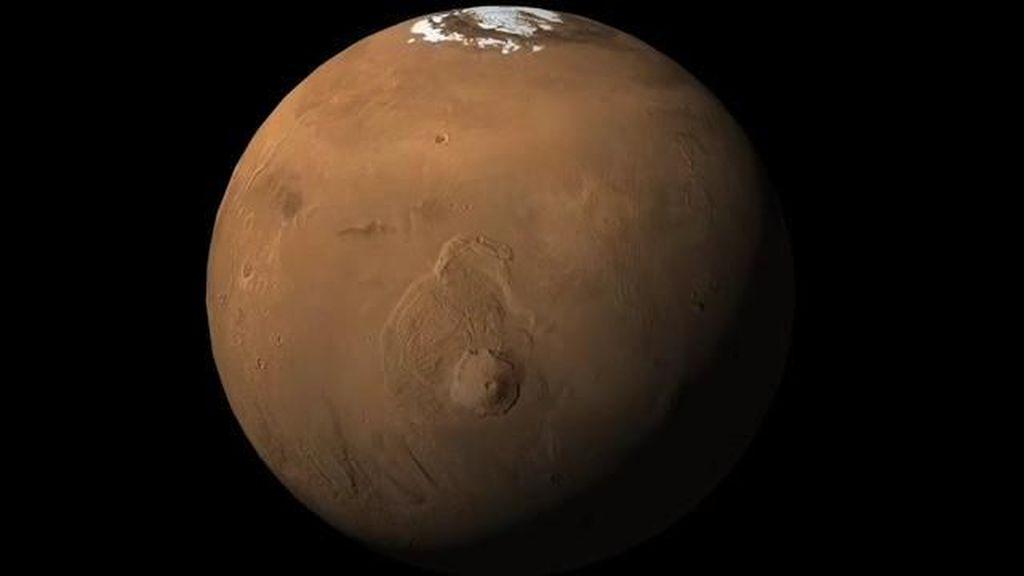 Olympus Mons di Mars merupakan gunung api terbesar di Tata Surya. (Foto: NASA)