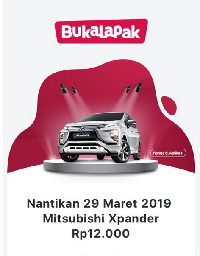 Info flash sale Xpander di Bukalapak