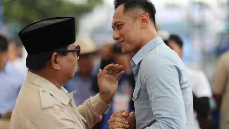 Sindiran AHY Menteri Jokowi Dibalas Satire Prabowo Menang