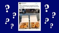 Bagel Diiris Seperti Roti Picu Keributan Netizen di Twitter