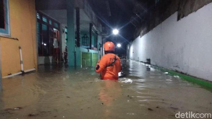 Banjir di Cepu, Blora (Foto: Dok BPBD Blora)