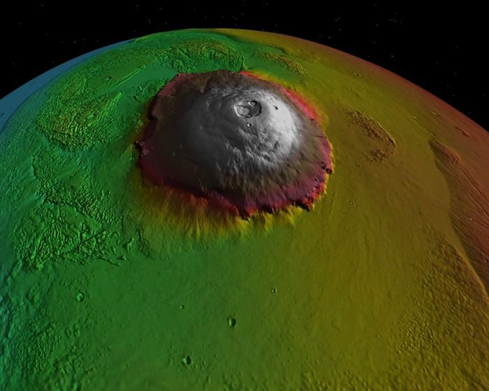 Wujud Olympus Mons yang Tiga Kali Lebih Tinggi dari Everest