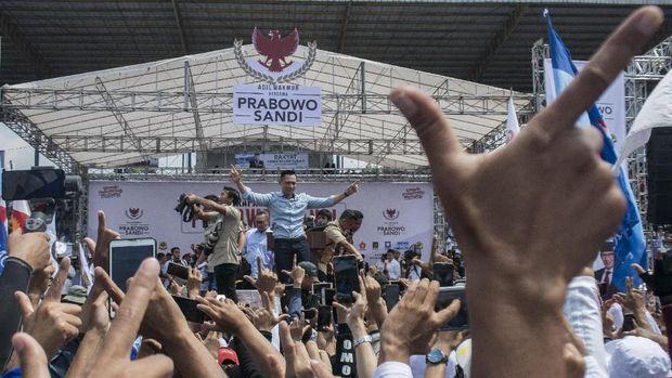 AHY saat kampanye Prabowo /