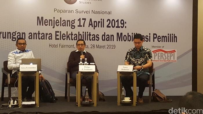 Rilis Survei CSIS (Zunita Amalia Putri/detikcom)