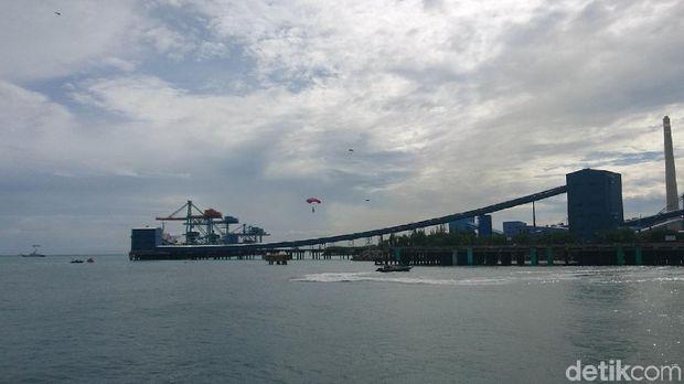 Komando Armada (Koarmada) I TNI AL menggelar simulasi di PLTU Suralaya