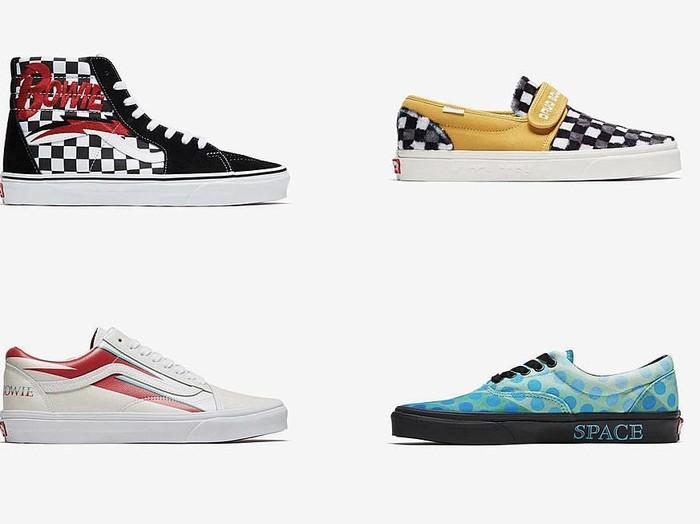 Sneakers Vans x David Bowie (Foto: Ist.)