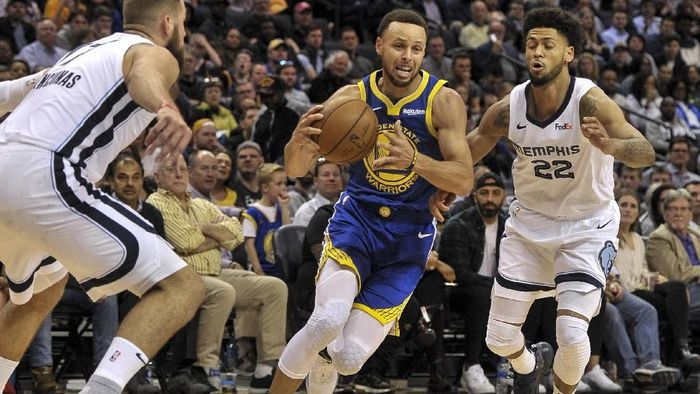 Warriors kalahkan Memphis Grizzlies (Justin Ford-USA TODAY Sports)