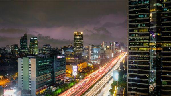 Jakarta light trail