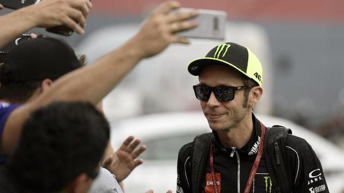 Valentino Rossi punya peluang besar menang di MotoGP Amerika Serikat, tapi dia harus puas dengan posisi dua (JUAN MABROMATA / AFP)