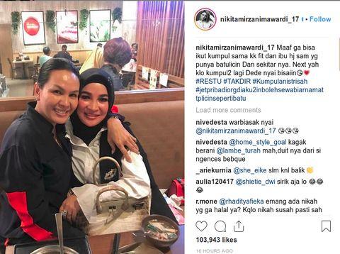 Inikah Bukti Nikita Mirzani Kenal Istri 'Pak Haji'?