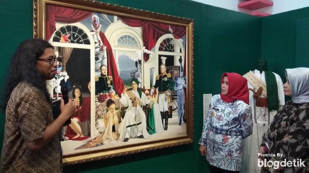 Pameran Lukisan Penangkapan Pangeran Diponegoro Ajak Milenial Melek Sejarah