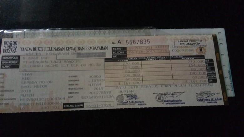 STNK Kendaraan Listrik di Jawa Barat Foto: dok. Istimewa
