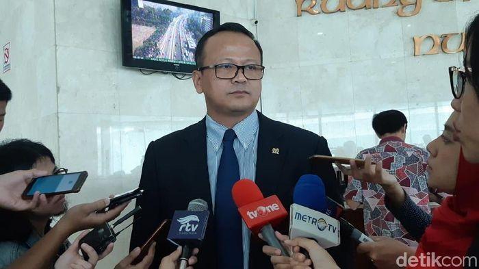 Foto: Waketum Gerindra Edhy Prabowo (Tsarina/detikcom)