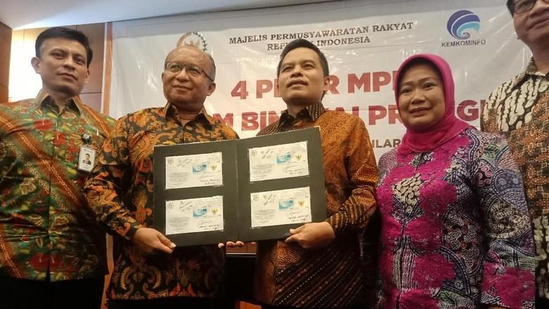 MPR Gunakan Prangko untuk Sosialisasi 4 Pilar