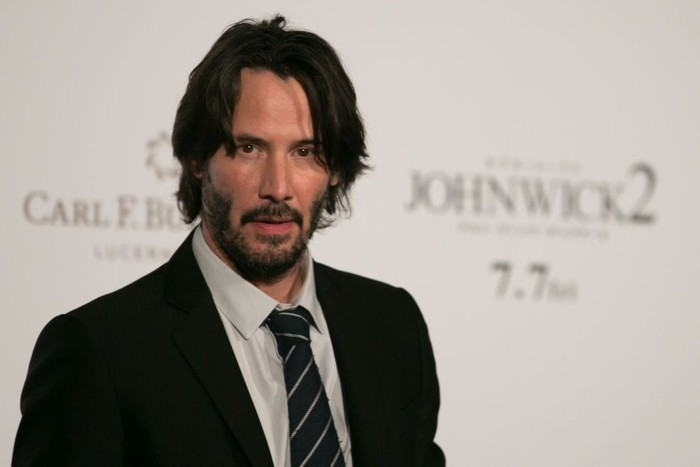 TOKYO, JAPAN - JUNE 13:  Keanu Reeves attends the Japan premiere of John Wick: Chapter 2 at Roppongi Hills on June 13, 2017 in Tokyo, Japan.  (Photo by Christopher Jue/Getty Images)